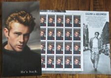 PANE OF 20 JAMES DEAN LEGENDS OF HOLLYWOOD 32 CENTS STAMPS with Stamp Folio
