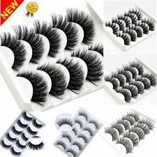 5Pairs 3D Natural False Eyelashes Long Thick Mixed Fake Eye Lashes Makeup Mink