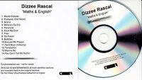 DIZZEE RASCAL Maths & English UK 14-tk numbered/watermarked promo test CD