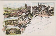 St. Ingbert Saar Saarpfalz-Kreis Kaiserstraße Stollen Rischbach Schloss AK 1900