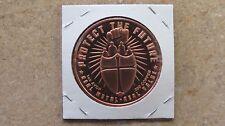 """Us Military-""""Protect the future"""" copper round series-1 Advp oz. .999 Fine copper"""