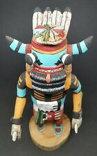 VINTAGE Authentic Hopi Kachina Doll WHIPPER (Pachavu Hu) Signed D. Adams 9-1/4""