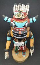 "VINTAGE Authentic Hopi Kachina Doll WHIPPER (Pachavu Hu) Signed D. Adams 9-1/4"""