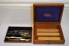 Rare collectible antique architect/technical drawing instrument set by Stanley