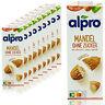 Alpro - 10 x Mandeldrink ohne Zucker 1 Liter - Mandel Drink ungesüßt & geröstet