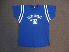 Vintage 1970's-80's Colts Corral #32 Blue Mesh Jersey ONE OF A KIND L@@K