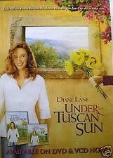 UNDER THE TUSCAN SUN DVD MOVIE POSTER- DIANE LANE,CUTE