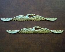 Raw Brass Swan Stampings (2) - Ff2719 Jewelry Finding