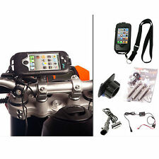 Motocicletta Bici M8 Bici Manubrio Mount Duro Custodia caricabatterie per iPhone 4S 4 S