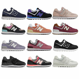 New Balance 574 Core Classic Damen-Sneaker Schuhe Veloursleder Leder Echtleder