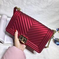 Fashion V Pattern Chain Bag Messenger Flap women Lady bag