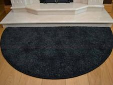 Dark Black Grey Mix Thick Half Moon Semi Circle Floor Rugs Rug Carpet Mat Cheap