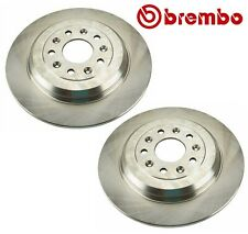 Pair Set of 2 Rear Solid Disc Brake Rotors 330 mm 5 Lugs Brembo For Ford Lincoln