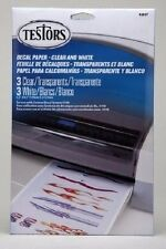 "Testors White & Clear Decal Paper for Inkjet Printer 5.5"" x 8.5""  9203 x"