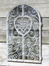 Large Rustic Decorative Shutter Mirror Metal Shutters Heart Antique Style Decor