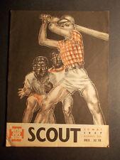Rare revue SCOUT 326 de 1957 avec des illustrations de Pierre JOUBERT base ball