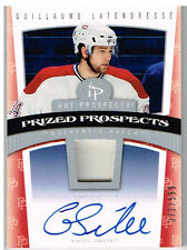 06-07 Hot Prospects PATCH AUTO ROOKIE xx/599 Made! Guilaume LATENDRESSE - Habs