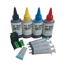 More details for ink cartridge refill kit and tool for use in hp 304,hp304 xl 4 x 100ml ink
