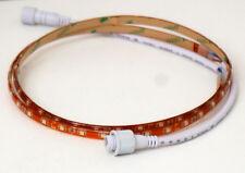 Coppia strisca LED rivestita in silicone luce bianca lung. 90 cm con adattatori
