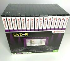 Verbatim DVD+R Video Recordable DVD's 120 Minutes with Cases 15 Pack New Sealed