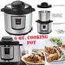Instant Pot Pressure Cooker 12 in 1 Programmable 6 Quart Electric Steel Instapot