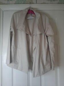 WynneLayers Faux Suede Jacket MarlaWynne Oyster Large BN RRP £90