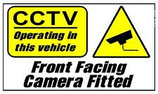 125x75mm FRONT FACING  CAMERA CCTV OPERATING IN THIS VEHICLE STICKER PRINTED