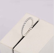 925 Sterling Silver Delicate Bubble Around Ring