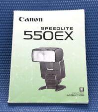 Canon Speedlite 550EX Instruction Manual ONLY VGUC G974
