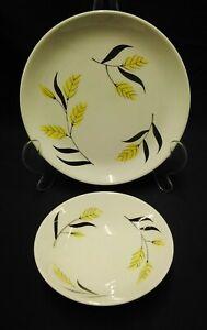 set of three swinnertons nestor vellum plates & Bowls