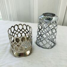 Bath & Body Works Silver Soap Holder Small Gold Candle Holder Home Decor Bath