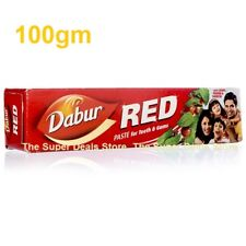 1Pack x 100gm DABUR RED TOOTH PASTE for REDUCTION IN GUM DISORDERS & TOOTHACHE