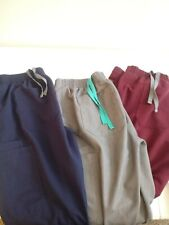 Figs technical collecrion lot Women 3 pair Scrub Pants small gray blue red