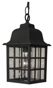 """Outdoor Rust Colored Craftmade Z271 Grid Cage 1 Light Rectangular Pendant - 6"""""""