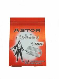 100 BIC Astor Stainless double edge razor blades FREE SHIPPING!