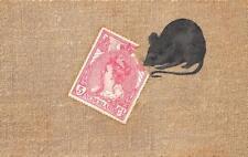 Netherlands Stamp Mouse Opf Publisher, Embossed Postcard