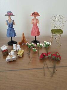 Mixed Lot Dollhouse Shop Items resin manakins