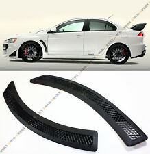 Evo 10 X Style Black Mesh Polyurethane Front Fender Side Vent Cover For Lancer