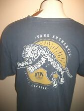 Vans Mens Leaper OTW 1966 Tiger Graphic SS T Shirt Blue Yellow size XL Free Ship