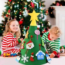 Árbol de Navidad de fieltro para niños, decoración navideña para hogar adornos