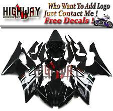 Full Fairings For Yamaha YZF 600 R6 08-15 ABS Plastic Black White Fairing Kit A