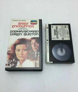 BRIEF ENCOUTER (1974) Pre-Cert Betamax Video Cassette [VG] Sophia Loren