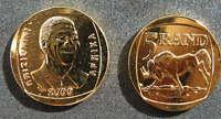 Nelson Mandela Gold Plated Proof Like R5 Year 2000 Coin Madiba Memorabilia