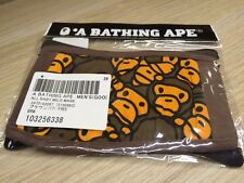 A Bathing Ape Bape  Baby Milo Face Mask Brown New Free Shipping new