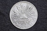 Mexico - Republic 1884 Zs JS 8 Reales Silver Coin ( Weight : 26.87 g) C20
