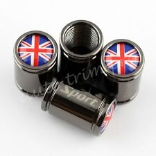 Titanium Styling Tyre Valve Dust Covers Screw Caps Car Parts England Flag Logo
