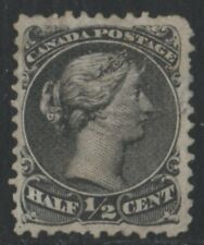 MOTON114    #21c Large Queen 1/2c Canada used well centered