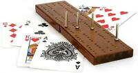 Traditional Cribbage Wooden Board Card Game with Pegs