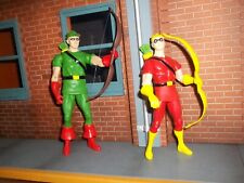 DC DIRECT COLLECTIBLES SILVER AGE GREEN ARROW & SPEEDY FIGURE GIFT SET