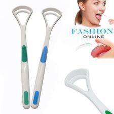 2X Tongue Cleaner Soft Dental Care Brush Scraper Handle Oral Clean Bad Breath